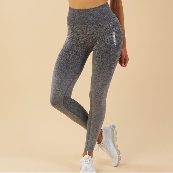 Gymshark Pants | Ombre Seamless Leggings Blacklight Grey | Poshma