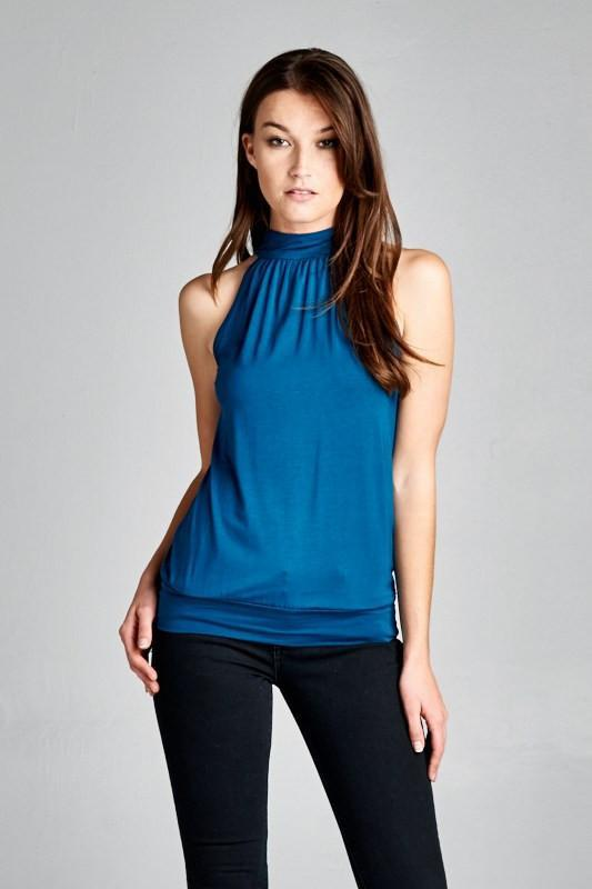 Choose the trendy tops to suits your personality with halter neck .