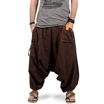 Hot Men Harem Pants Boho Hippie Trousers Baggy Cotton Wide Leg .