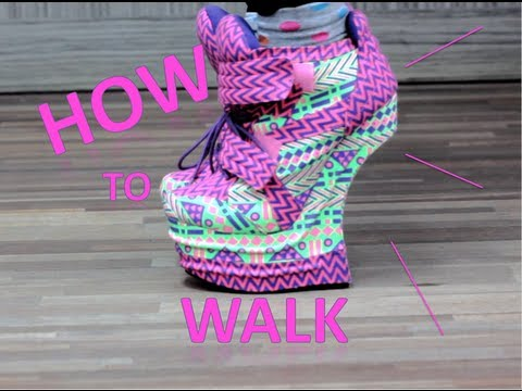 How to WALK/RUN in Heel less heels - YouTu