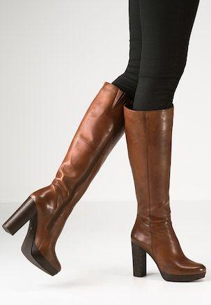 NANO - High heeled boots - cognac | Botas de tacón, Zapatos de .
