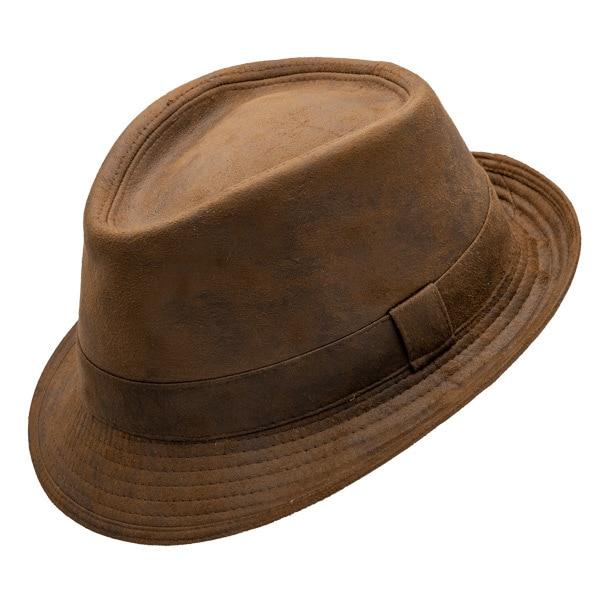 Henchel | Faux Leather Fedora Hat | Hats Unlimit