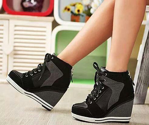 Sneaker heels? | Platform high heel shoes, High heel sneakers .