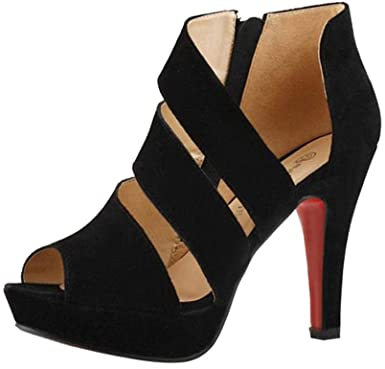 Amazon.com: Women High-Heeled Shoes, 2019 Auwer Women's Casual .