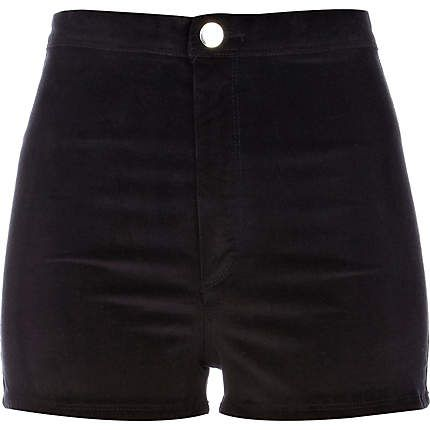 Really cute black corduroy high waisted shorts. Simple and cute .