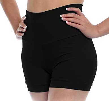 Amazon.com: B Dancewear Womens High Waisted Dance Shorts Adult .