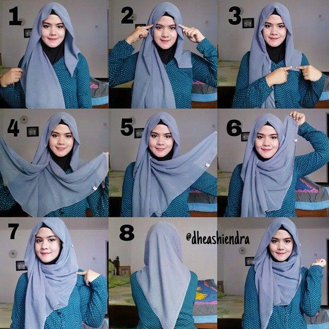Loose Triangle Hijab Tutorial | How to wear hijab, Simple hijab .