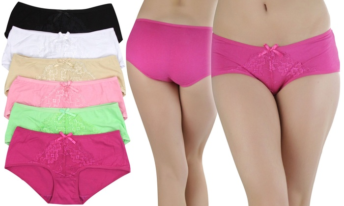 6-Pack) Women's Essential Floral Lace Hipster Underwear | Group