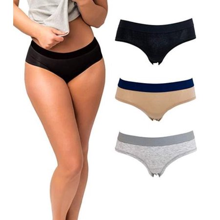 EMPRELLA - Women's Cotton Hipster Underwear Panties (3-Pack .
