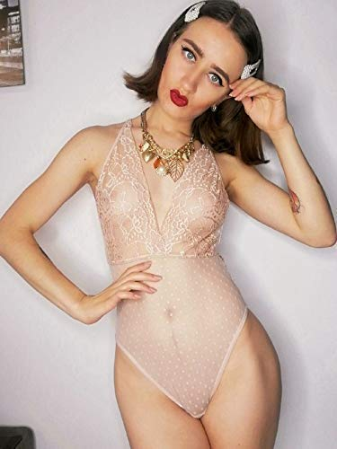 "Amazon.com: NaNiKa Design -""LISA"" Sheer Bodysuit Lace Lingerie for ."