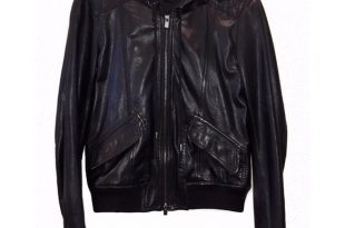 Theory Jackets & Coats | Hooded Leather Jacket Small Gorgeous .