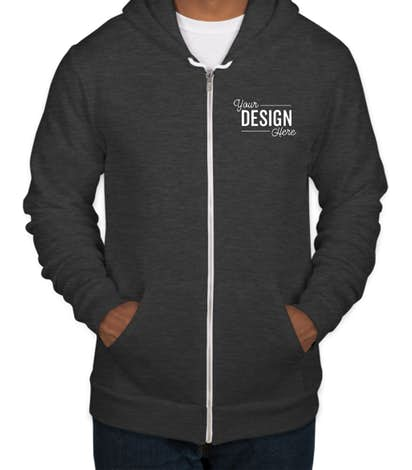 Custom American Apparel USA-Made Flex Fleece Zip Hoodie - Design .
