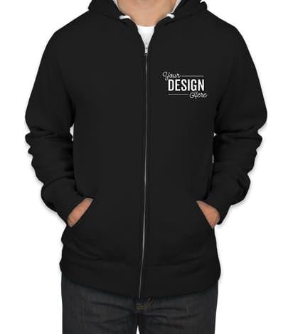 Custom Independent Trading Lightweight Zip Hoodie - Design Full .