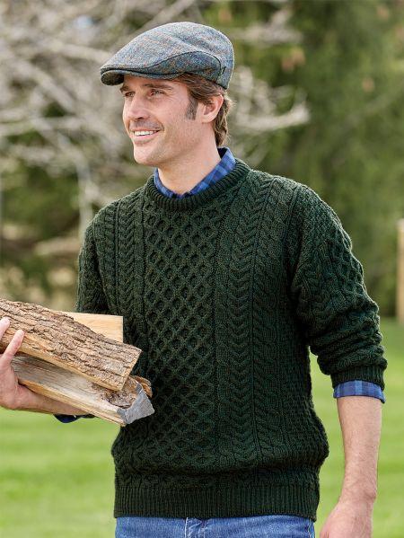 Mens Irish Sweater | Aran Merino wool | Vermont Country Sto