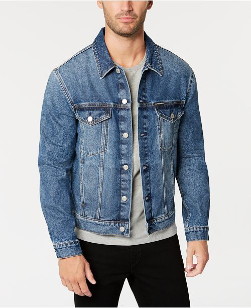 Calvin Klein Jeans Men's Classic Denim Trucker Jacket & Reviews .