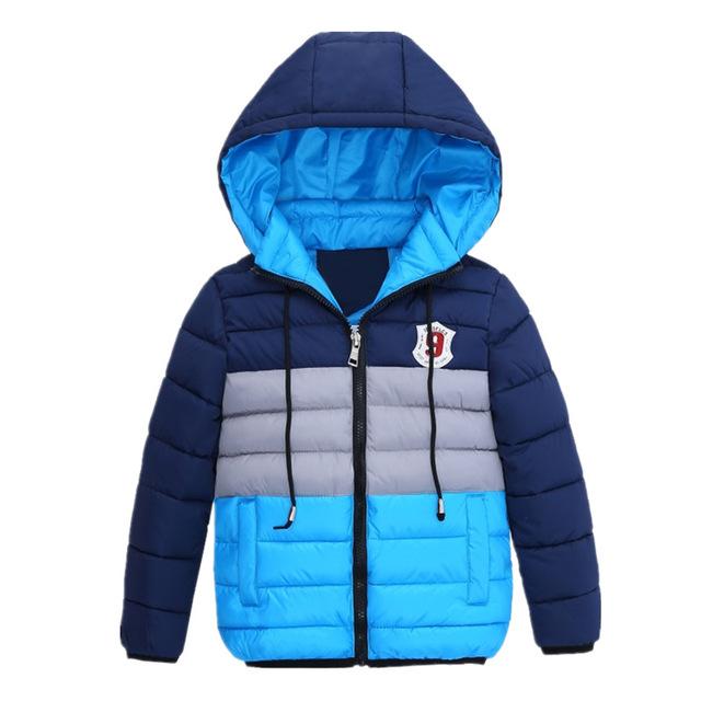 Boys Blue Winter Coats & Jacket Kids Zipper Jackets Boys Thick .