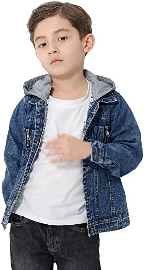 Amazon.com: CaiDieNu Girls Denim Jackets Boys Jean Jacket Kids .