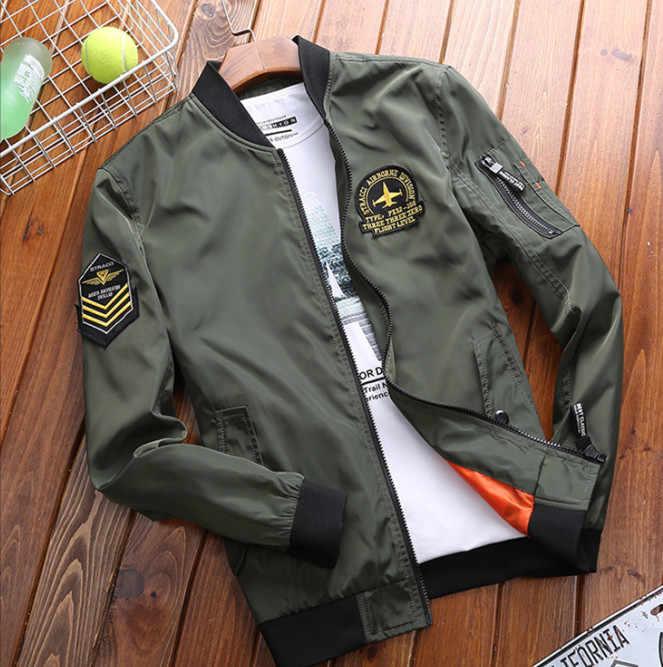ZHAN DI JI PU JI PU Bomber Jacket Plus Size 4XL Jackets For Men .