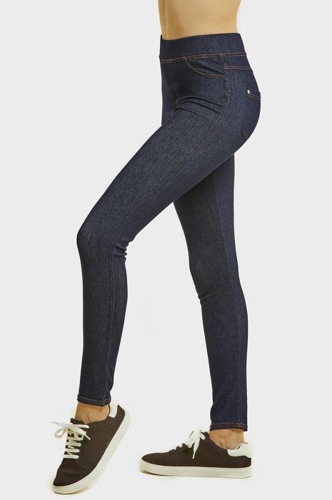 SOFRA LADIES JEAN LEGGINGS W/ BACK POCKETS (WP5000) | Uni Hosiery .