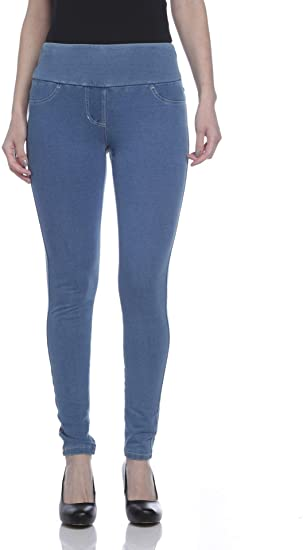 Teez-Her F.T. Stretch Jean Leggings, Bleach Wash, Small at Amazon .