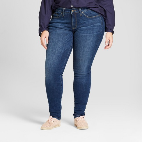 Women's Plus Size Curvy Skinny Jeans - Universal Thread™ Dark Wash .