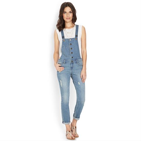 Forever 21 Jeans | Denim Jumpsuit Overalls Nwt | Poshma