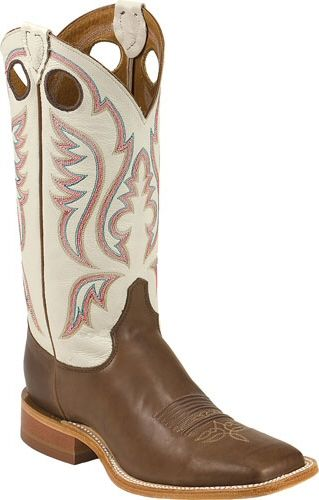 Mens Cowboy Boots Bent Rail By Justin Boots Chocolate Burnished .