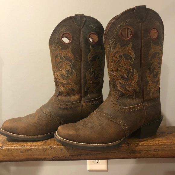 Justin Boots Shoes | Mens Justin Cowboy Boots 105 Wide | Poshma