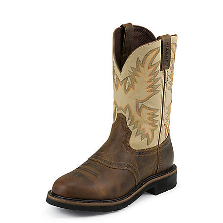 Justin Men's 11 in. Cowhide Stampede Collection Boots at Tractor .