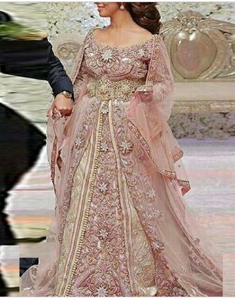 Pink Net Bridal Designer Kaftan, Rs 35500 /piece, Gs Fashion | ID .