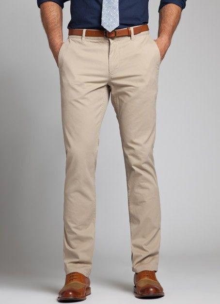 Basic Pair of Khaki-colored Pants | Business casual men, Mens .