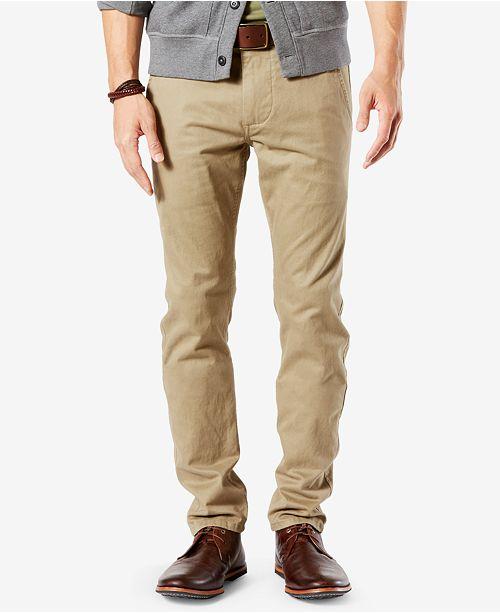 Dockers Men's Stretch Original Skinny Fit Alpha Khaki Pants .