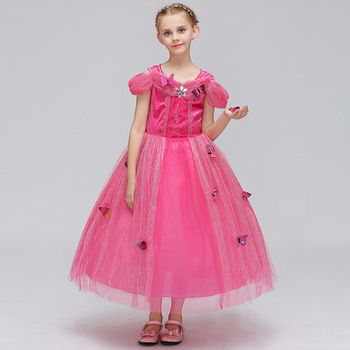 Kids designer clothes Cinderella 10 years little girl gowns long .
