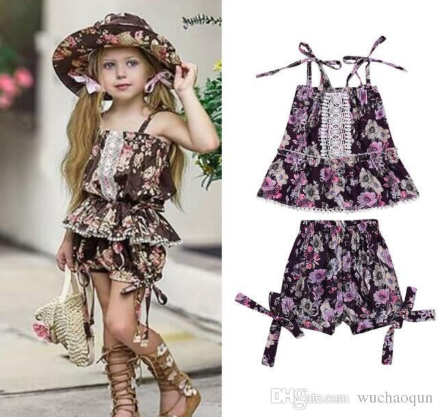 2020 Wholesale HOT SELL Summer Kids Designer Clothes Girls Flower .
