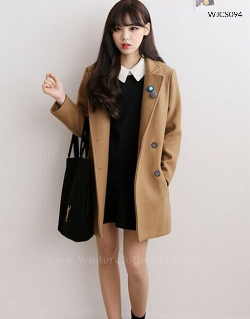 Korean Style Casual Short Trench Coat - Winter Cloth