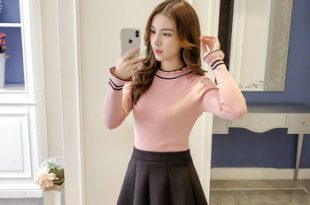 Fs0585a 2018 New Korean Style Clothing Ladies Pretty All Matched .