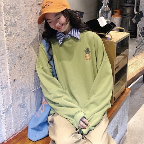 Shop Autumn Women Korean Style Hoodies Oversize Warm Ladies .