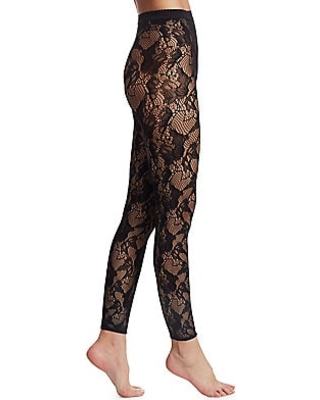 On Sale Now. 40% Off Wolford Women's Louise Lace Leggings - Black .