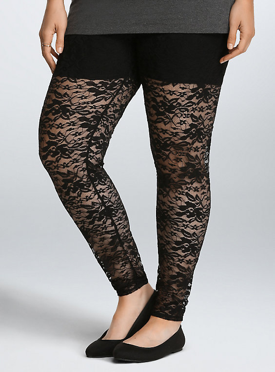 Plus Size - Lace Leggings - Torr