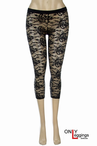 Capri Lace Leggings - Leggings Supersto