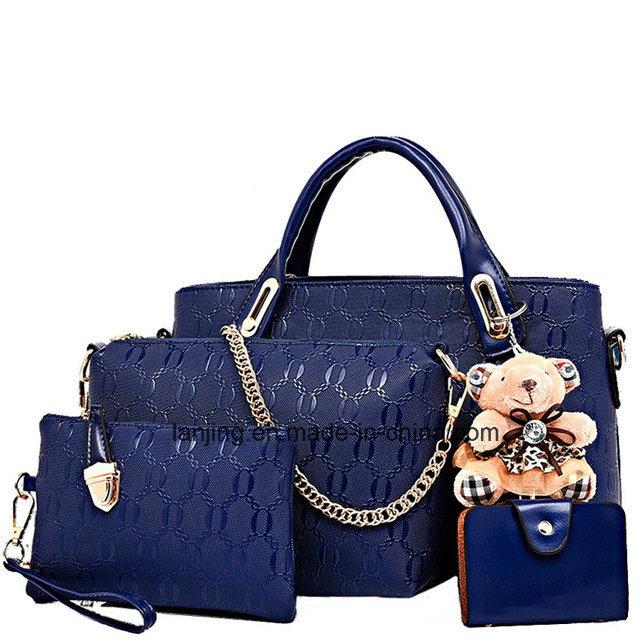 China Wholesale Designer Woman Bag Set 4 Pieces Leather Ladies .