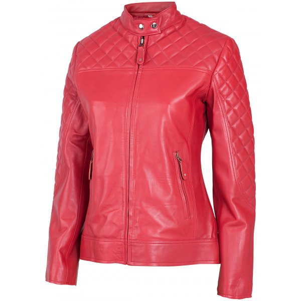 Cafe Racer Leather Jacket for Ladies | Leather Jacket Mast