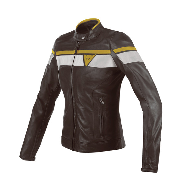 Blackjack Lady Leather Jacket: leather motorcycle jacket - Dainese .