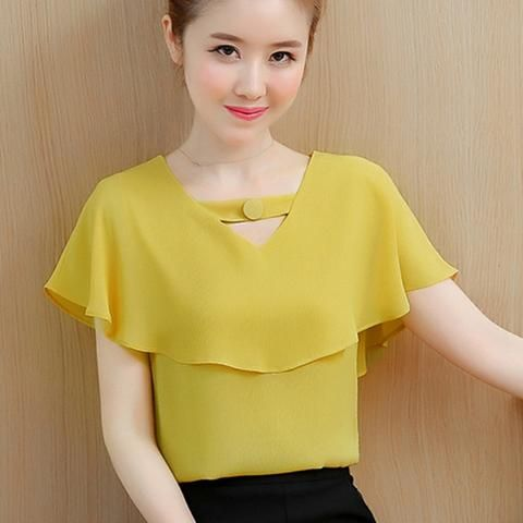 Womens Tops and Blouses Summer Chiffon Blouse Women Clothes Ladies .