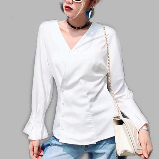 China 2019 Autumn Wholesale New Design Fast Fashion Ladies Tops .