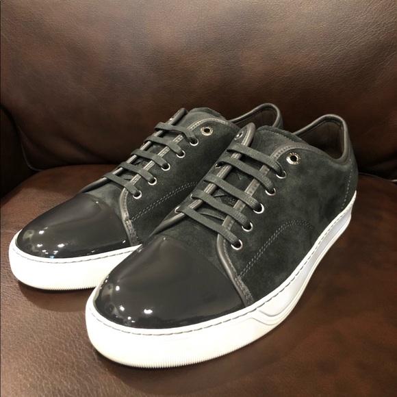 Lanvin Shoes | Suedepatent Captoe Sneakers | Poshma