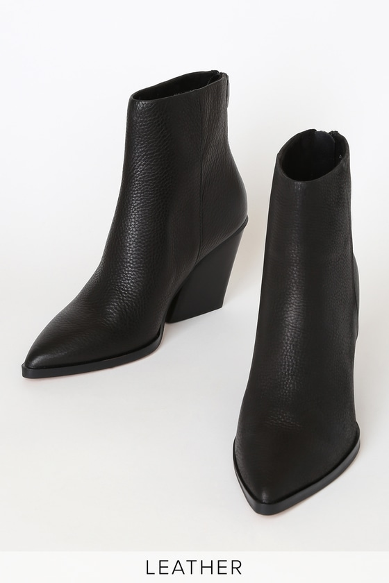 Dolce Vita Issa - Black Genuine Leather Booties - Ankle Booti