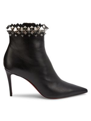 Christian Louboutin - Firmamma Studded Leather Ankle Boots - saks.c