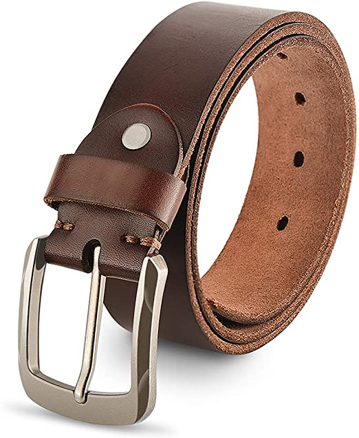 Genuine Leather Belts For Men, 100% Full Grain Fashion Mens Belt .