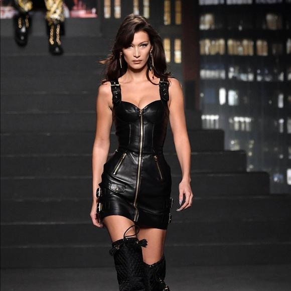 H&M Dresses | Hm Moschino Leather Dress | Poshma